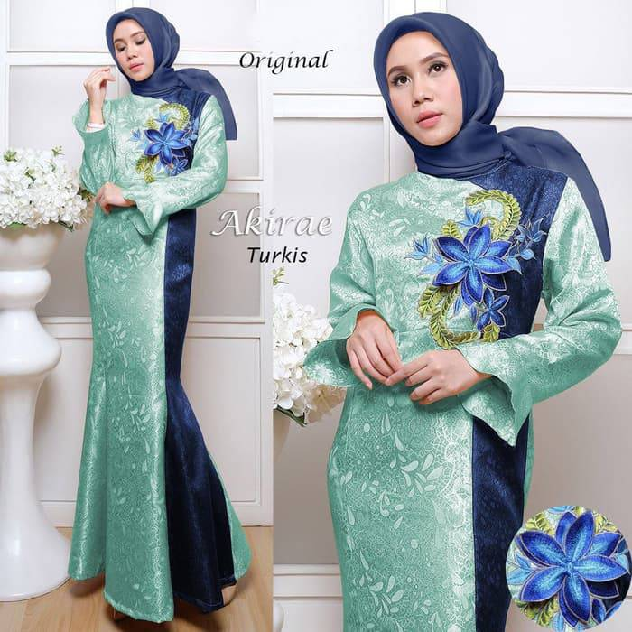 Gamis pesta jaguard model duyung bordir akirae turkish
