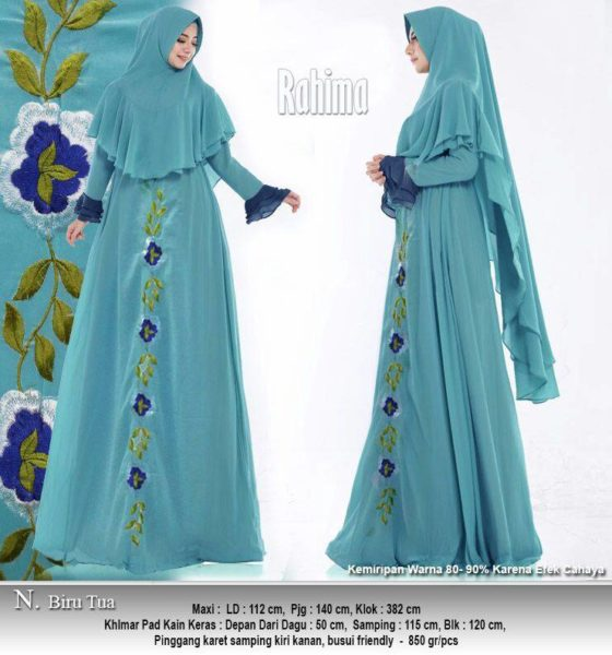 model baju gamis sifon simple rahima