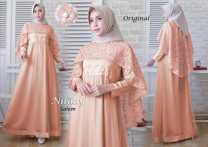 Model gamis pesta cape 2019 terbaru nitady salem mg