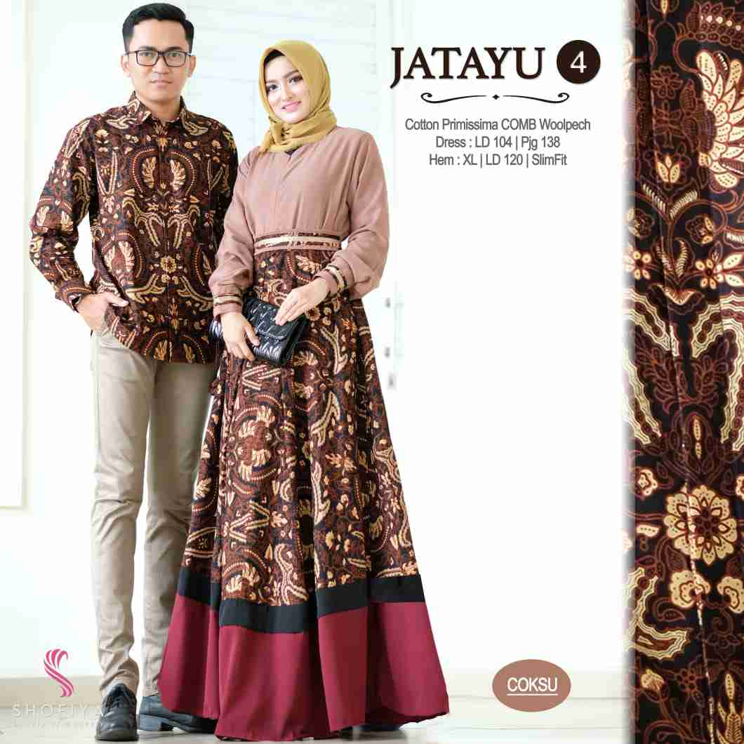 Couple batik terbaru 2019 warna coksu jatayu vol 4