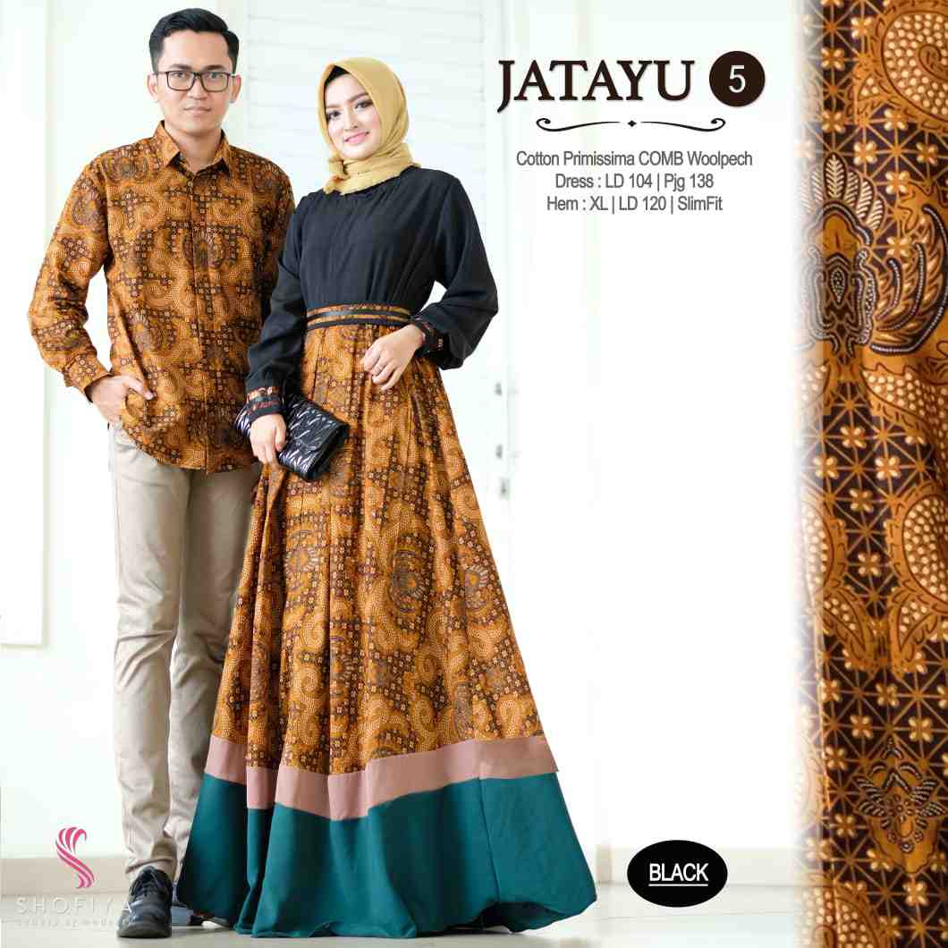 Couple batik terbaru 2019 warna hitam jatayu vol 5