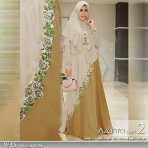 Azahra 2 cream gold