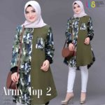 Tunik Panjang Army 2 ORI by SHOFIYA