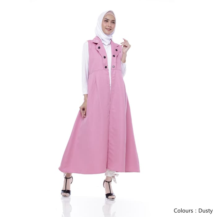 Gamis remaja pixie long outter dusty