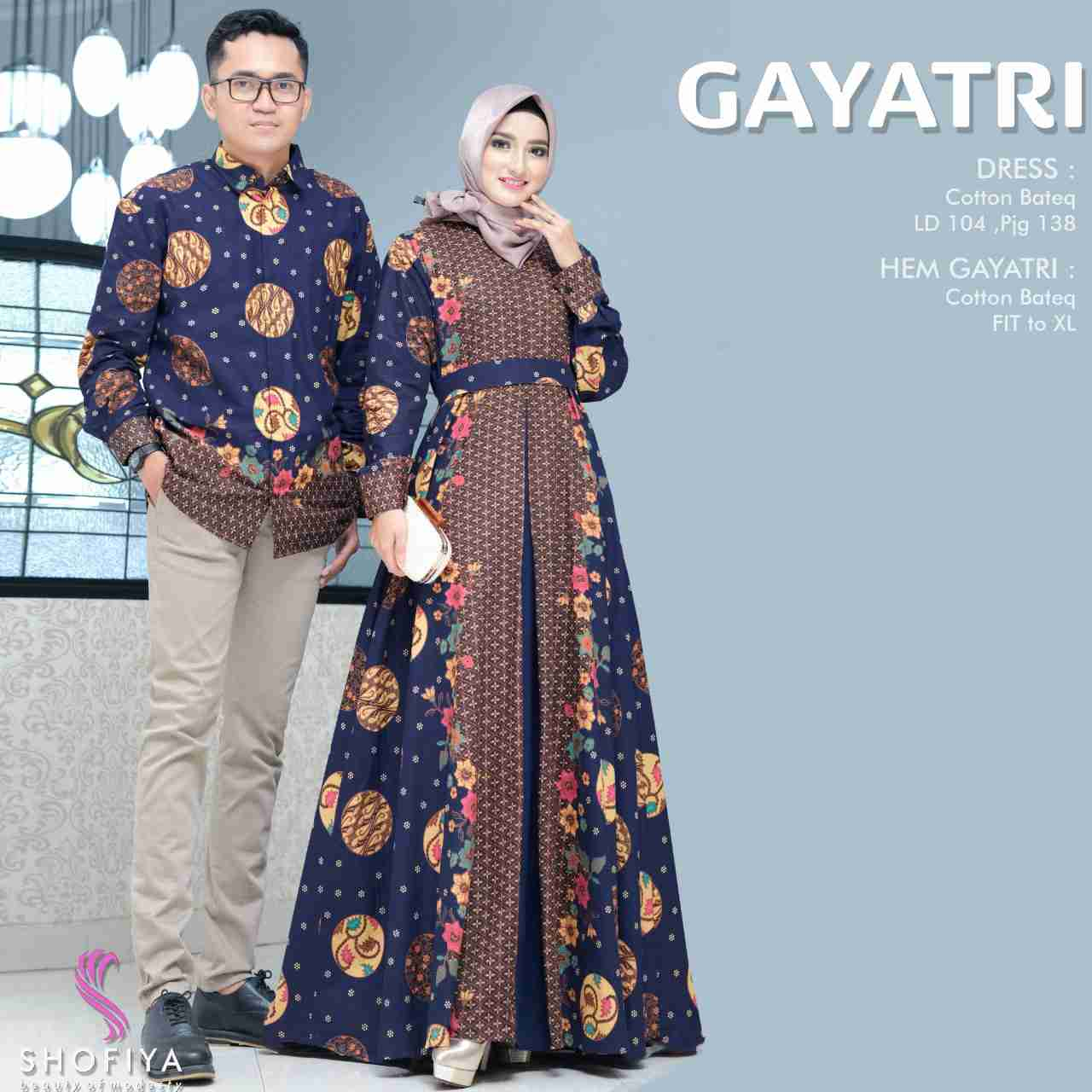 Couple batik gayatri navy