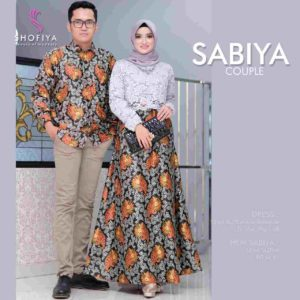 Couple Batik kombinasi Brokat Couple Sabiya