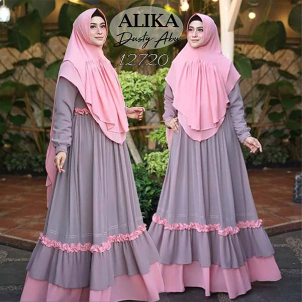 Gamis alika dusty abu