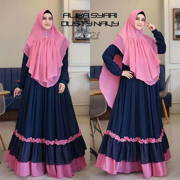 Gamis alika dusty navy