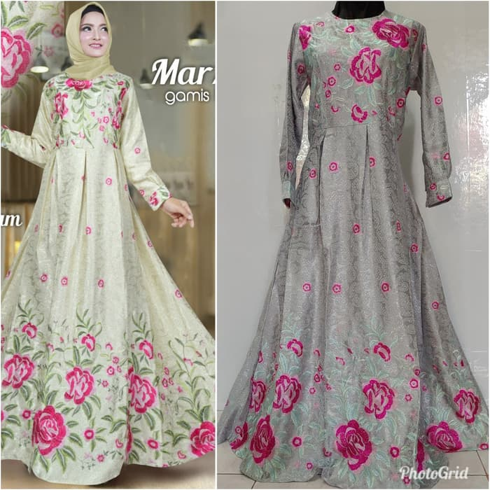 Gamis marzela silver realpict