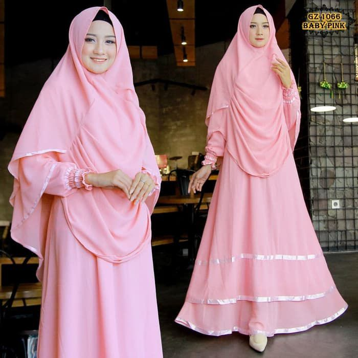 Gamis ceruty gz1066 baby pink