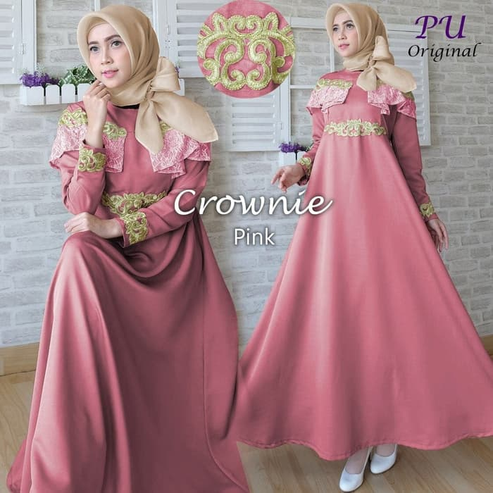 Gamis crownie dusty pink