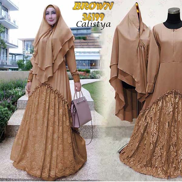 Gamis calistya brown