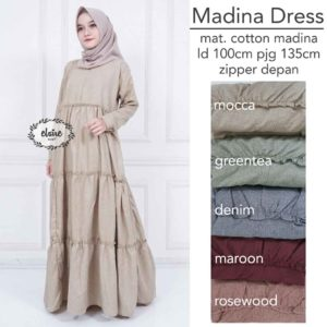 Gamis Model Susun Madina Dress