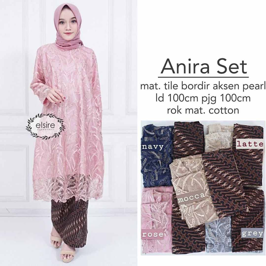 Kebaya brokat modis anira rose