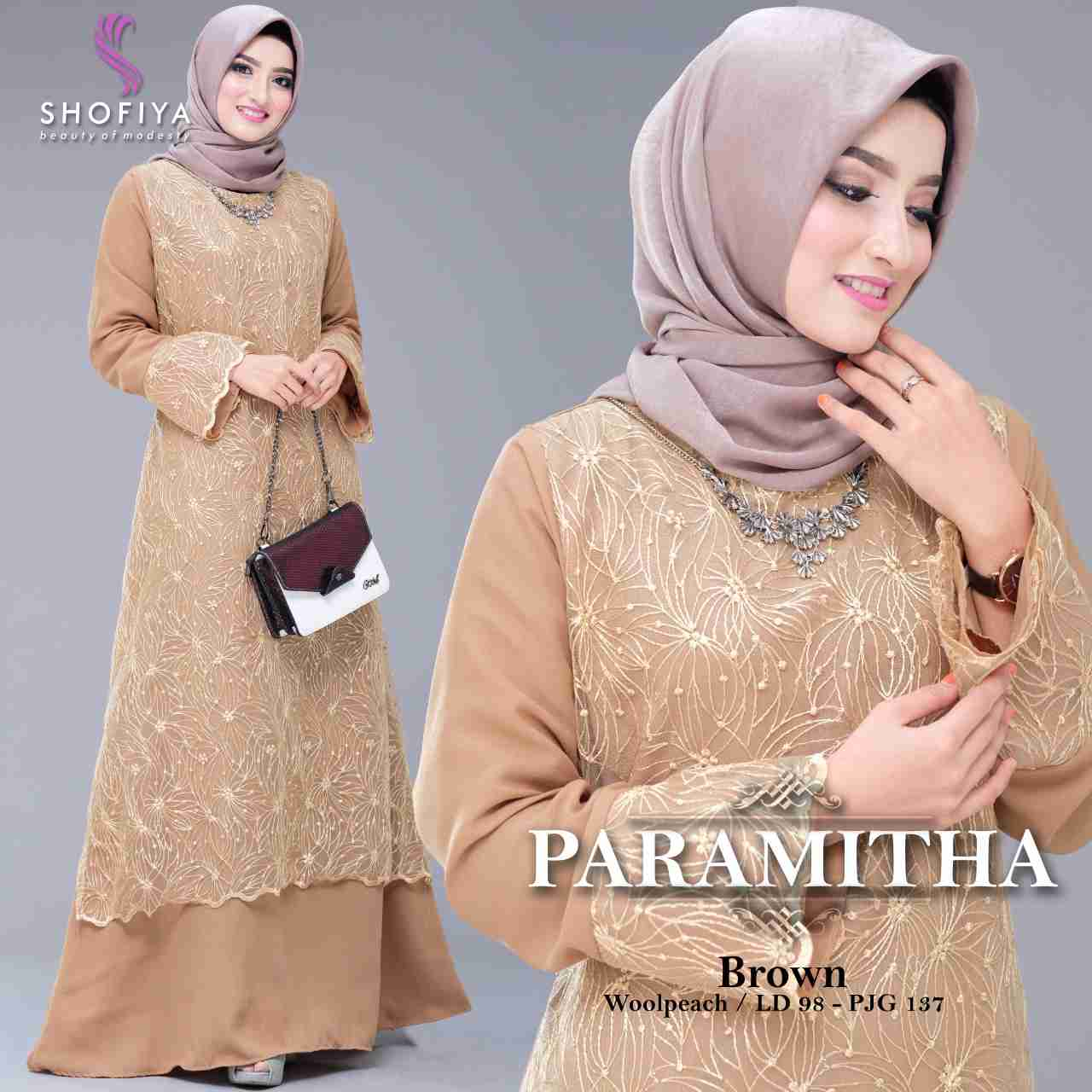 Gamis pesta trendy 2019 paramitha brown
