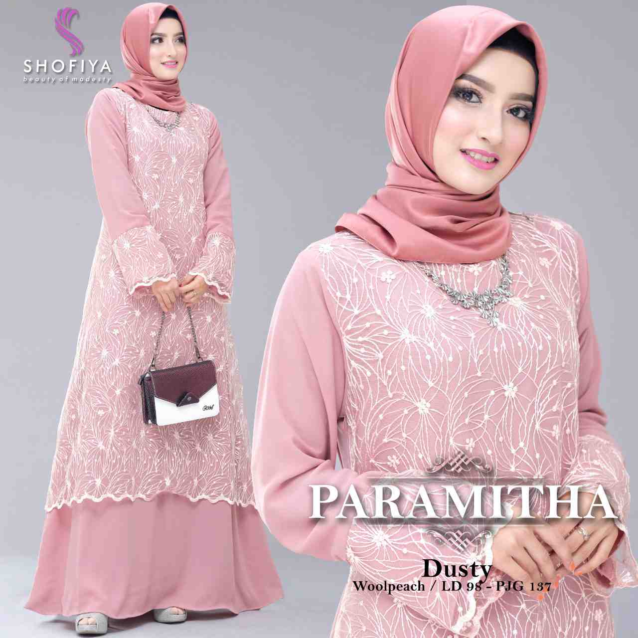 Gamis pesta trendy 2019 paramitha dusty