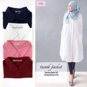 Tunik Model Panjang Pocket