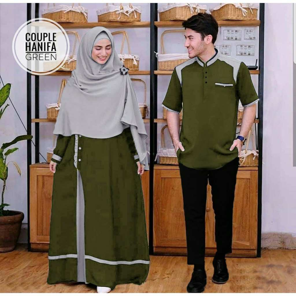 Baju couple syari hanifa green