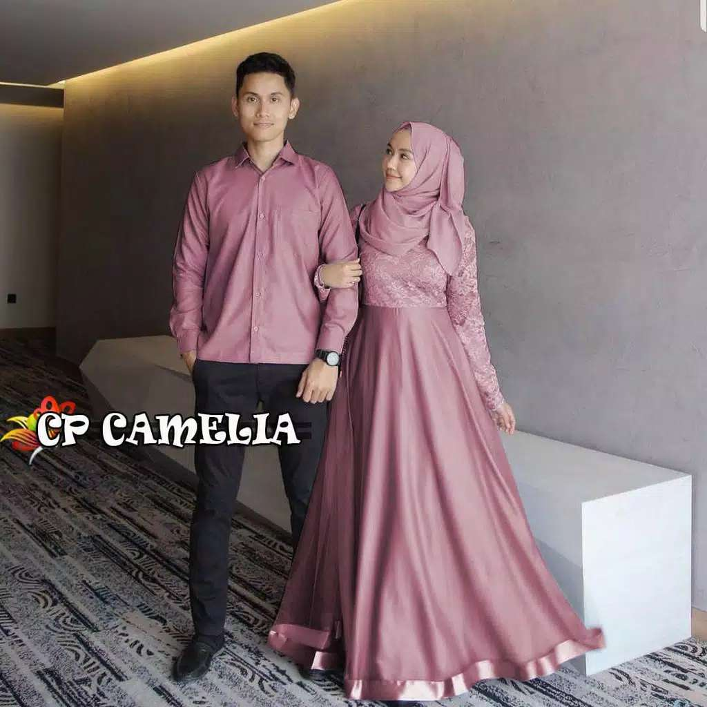 Couple brokat terbaru camelia dusty