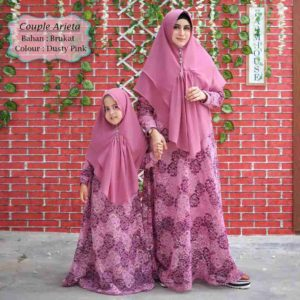 Gamis Pesta Couple Brokat Arieta