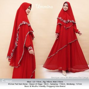 Model Gamis Ceruty Bordir 2019 Ummina