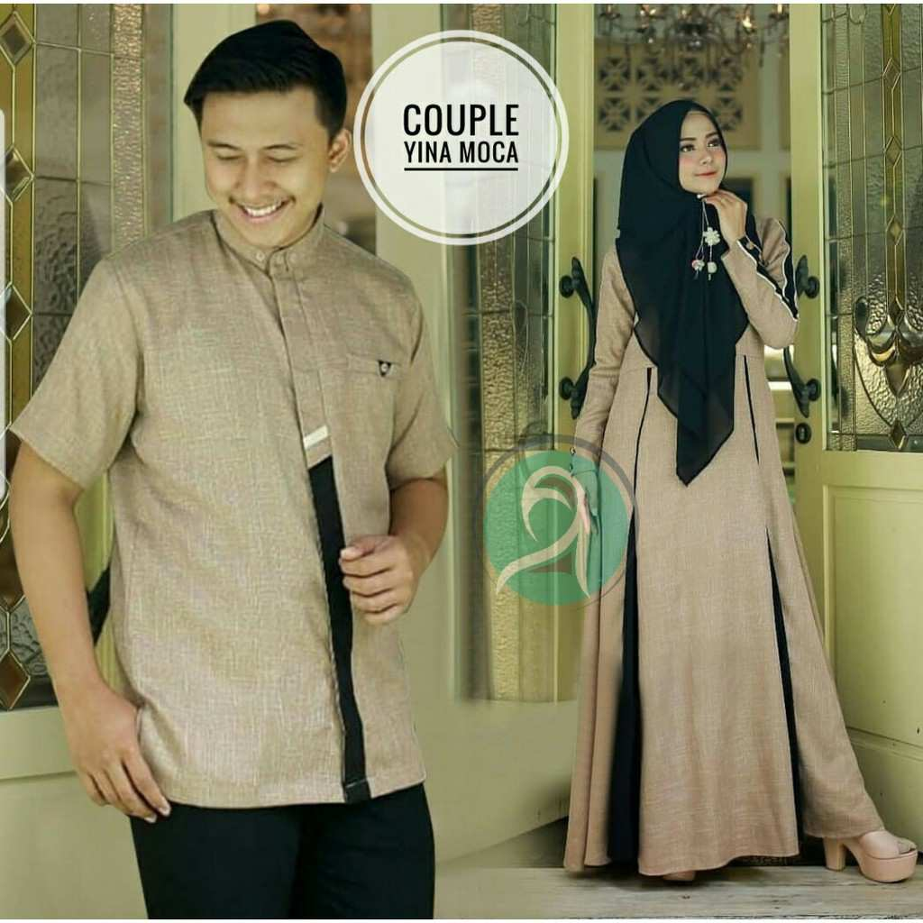 Model gamis couple modern yina moka