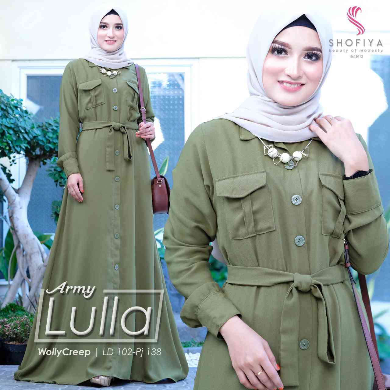 Gamis casual lulla army