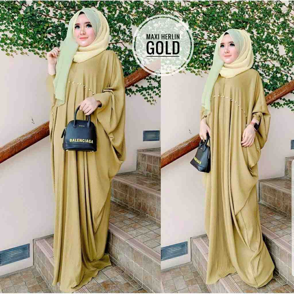 Model kaftan modern 2019 herlin gold