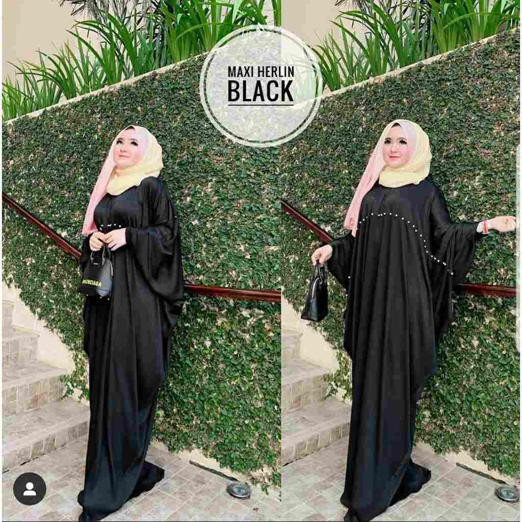 Model kaftan modern 2019 herlin hitam