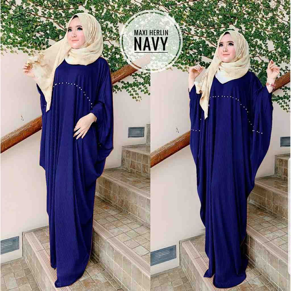 Model kaftan modern 2019 herlin navy