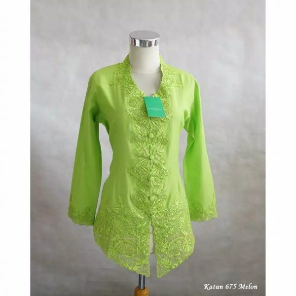 Model Kebaya Encim Katun 675 Melon
