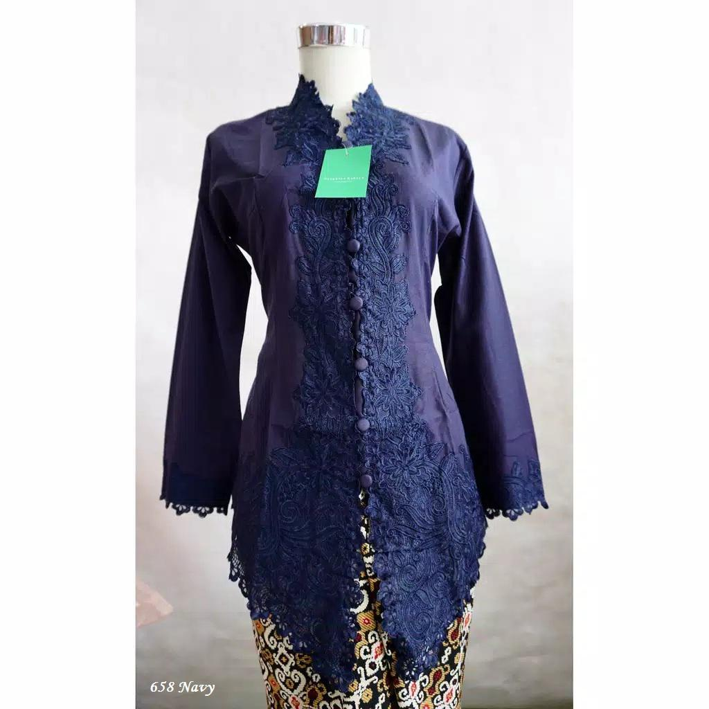 Model kebaya katun 2019 navy 658