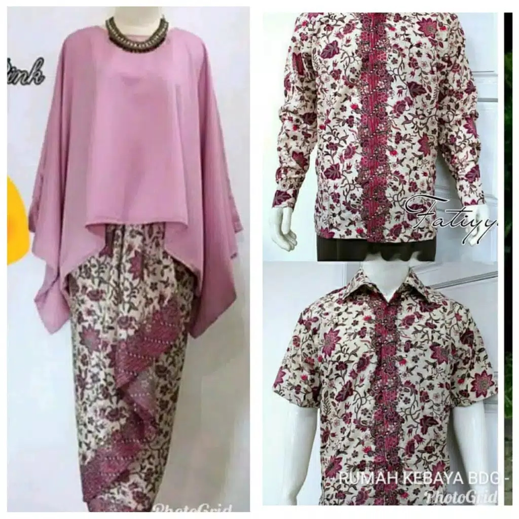 Batik couple batwing set dusty