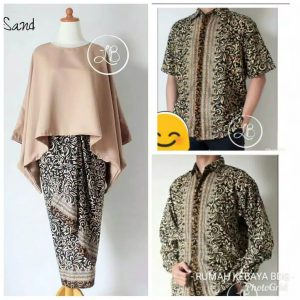 Batik couple batwing set sand
