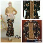 Baju Couple Batik Brokat Organza