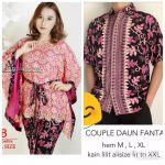 Baju Couple Batwing Brokat