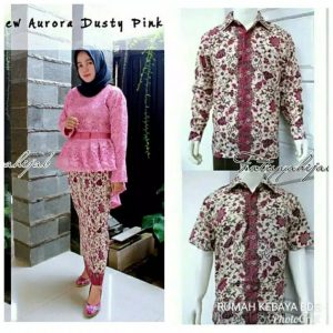 Couple Kebaya Batik Aurora Dusty Pink
