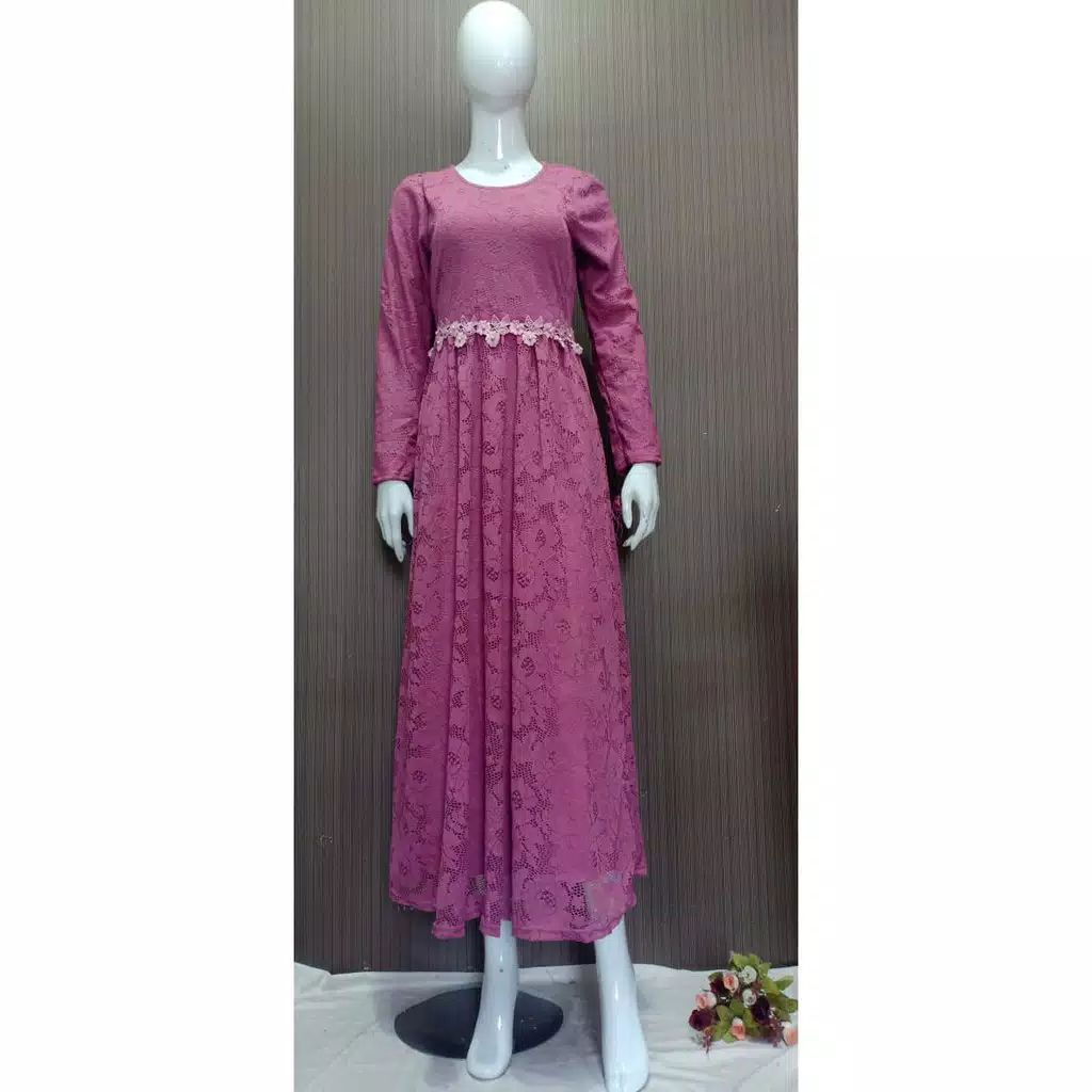 Dress pesta brokat slavina lyla