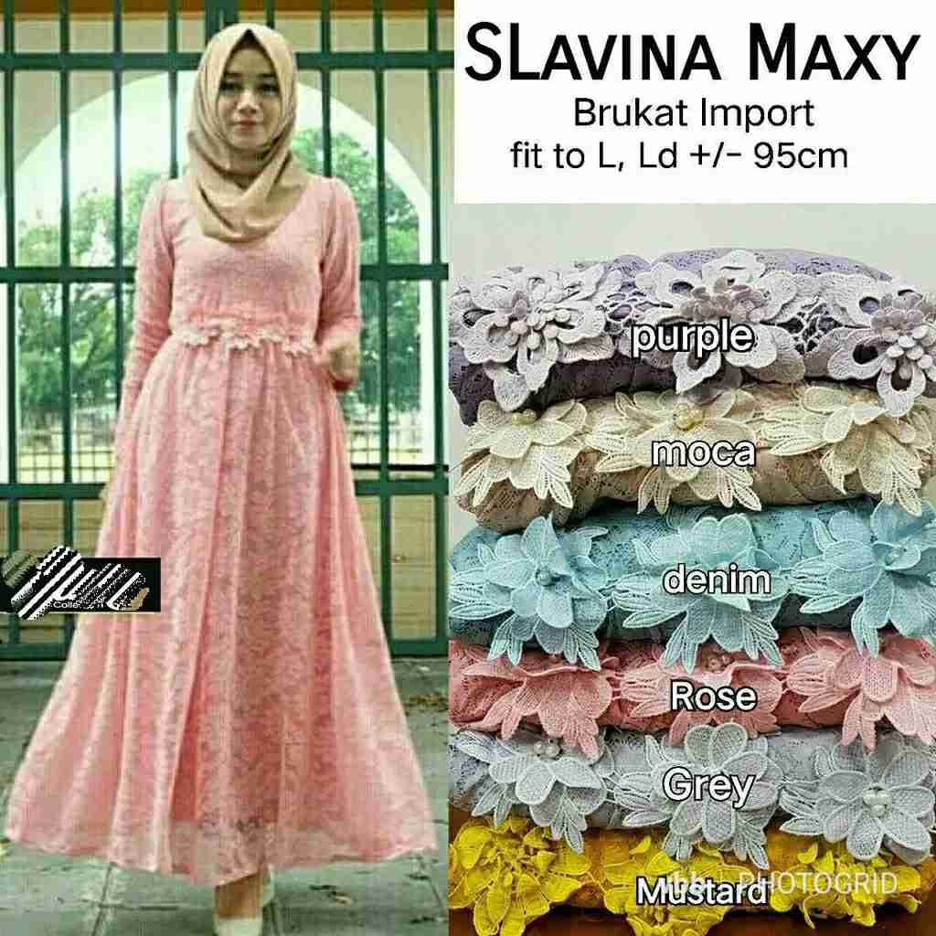 Dress pesta brokat slavina