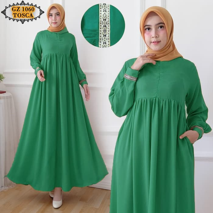 Gamis babydoll wolfis gz1060 tosca