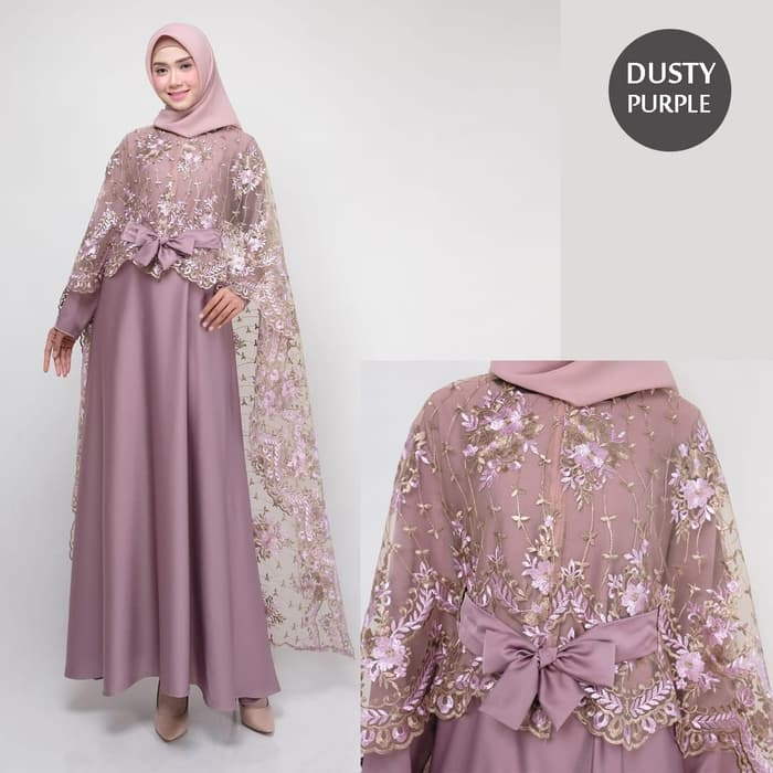 Dress pesta terbaru rania new dusty purple
