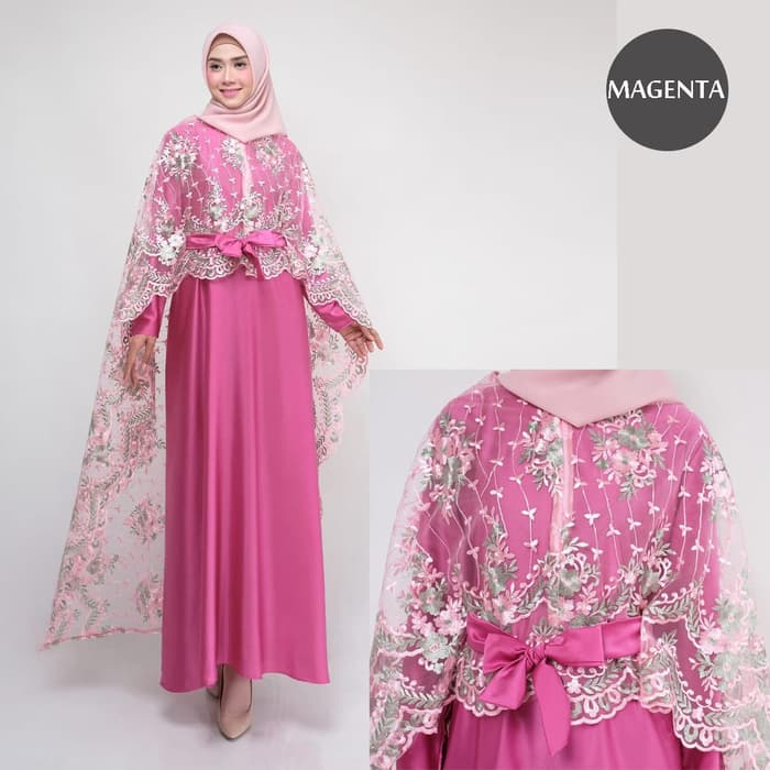 Dress pesta terbaru rania new magenta