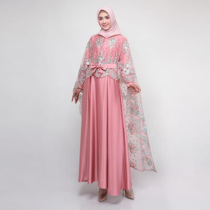 Dress pesta terbaru rania new pink