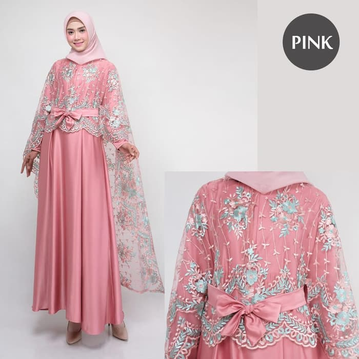 Dress pesta terbaru rania new pinkk