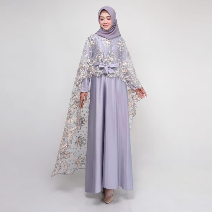 Dress pesta terbaru rania new silver