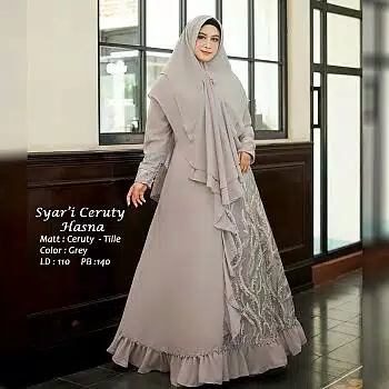 Gamis ceruty tile hasna abu