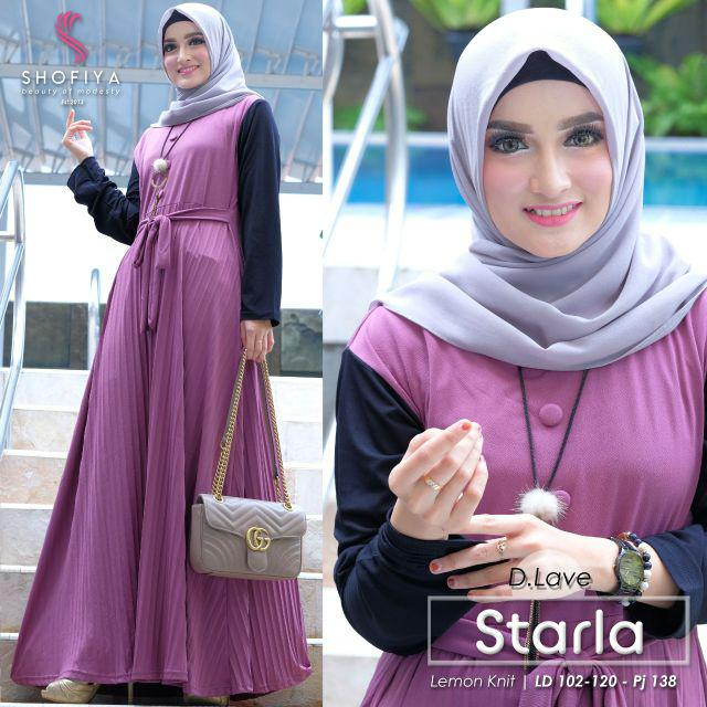 Gamis lemon skin starla dusty lavender