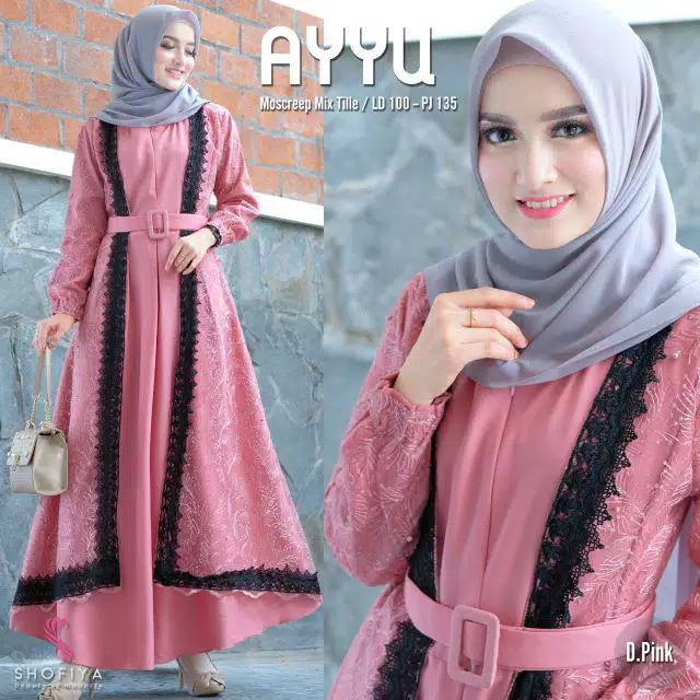 Gamis pesta ayyu dusty