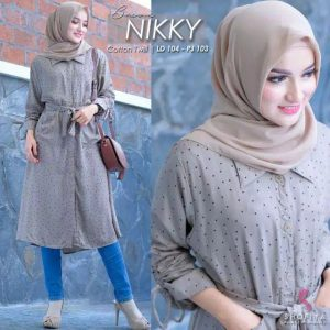 Tunik mini skirt nikky coklat