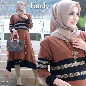 Tunik model terbaru fandy coklat